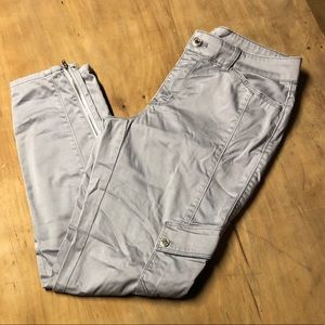 Gray White House Black Market Pants